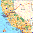 California Rest Area Map